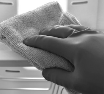 Hand cleaning refrigerator